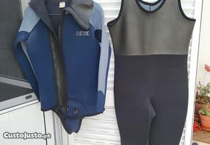 Casaco Fato Mergulho NAVA +calças com alças(54/XL)