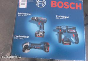 Conjunto de 3 Máquinas Bosch a Bateria de 18V - Ap