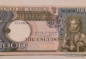 Nota 1000$00 (Escudos), Banco de Angola, 1973