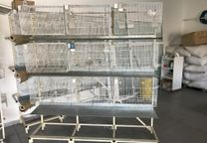 Gaiolas para criação / Bateria de gaiolas