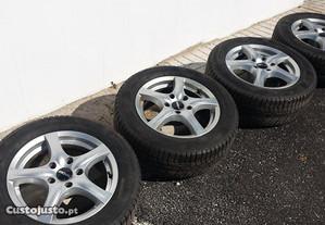4 Jantes 16 RONAL 5x120 (BMW) Ótimas, pneus 80%