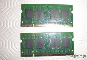 Memórias 512 MB DDR2 para portátil