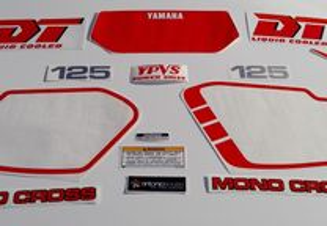 Yamaha DT125 LC YPVS sickers Autocolantes ver cor