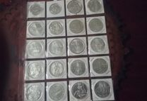 Coleção de 20 moedas de 1.000 Escudos Novas