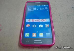 Capa em Silicone Gel Samsung Core 2 (G355H) Rosa