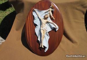 Quadro de parede oval - Cristo com Anjo