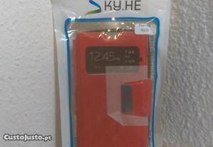 Capa Carteira Nova p/ Nokia Lumia 520 Vermelha