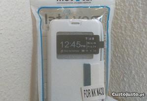 Capa Carteira Nova p/ Nokia Lumia 430 Branca