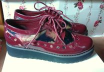 Sapatos plataforma creepers oxford