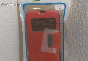 Capa Carteira Nova p/ Nokia Lumia 430 Vermelha