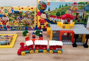 conjunto estacão comboios lego NODDY + 2 puzzles