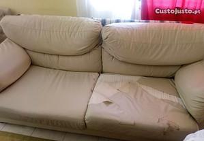 Sofá cama mais dois individuais