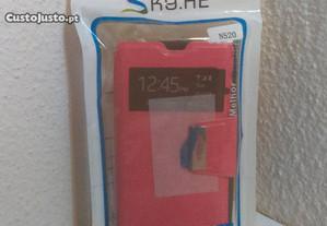 Capa Carteira Nova p/ Nokia Lumia 520 Rosa