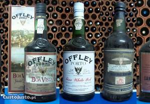 7 garrafas de vinho do porto antigas