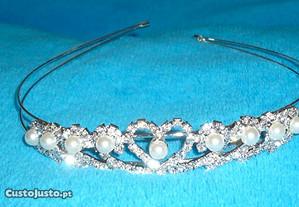 tiara strass e perolas para noiva ou cerimonia