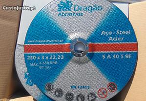 Disco de Corte Ferro e Aço, Dragao Abrasivo de 230