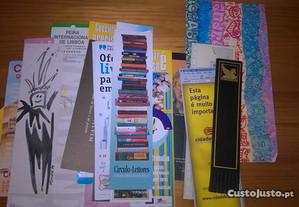 Conjunto de marcadores de livros