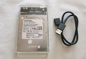 Disco externo / interno 500 GB com caixa USB 3.0