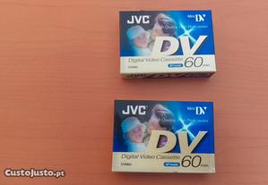 2 cassetes de video digital mini JVC