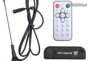 MTM002 - Recetor Digital DVB-T SDR+DAB+FM Realtek