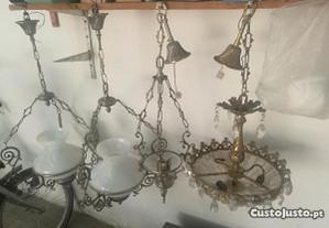 Candieiros antigos de tèto
