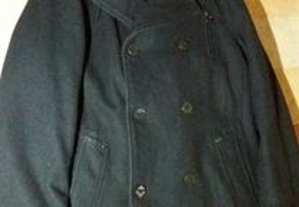 Casaco preto 3/4 tamanho L como novo