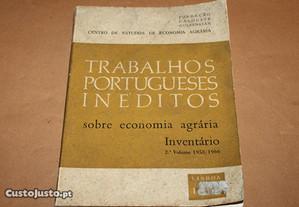 Trabalhos portugueses inéditos sobre economia agrá