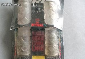 Conjunto de punhos de borracha para bicicleta