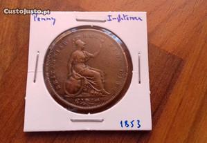 Moeda Penny 1853 Inglaterra