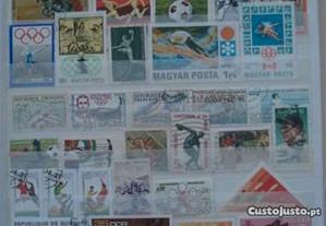 Classificador c/ 420 selos tema