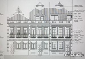 Prédio fachada antiga proj. aprov. à batalha-porto