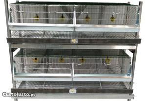 Gaiolas - Bateria para 32 Codornizes Reprodutoras