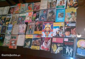 Conjunto de 45 Livros de Bolso Diversos