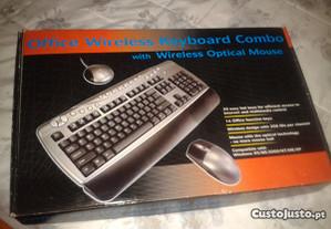 teclado/rato sem fios wireless