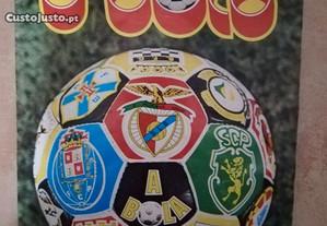 Coleção antiga de cromos de futebol