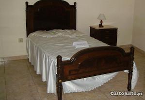 Quarto criança-Novo com 1 cama em madeira maciça