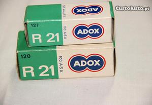 2 filmes ADOX R21 120 e 127 - 1965/68