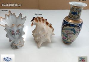 Jarra japonesa + duas peças de adorno