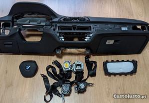 Conjunto Kit Airbags BMW Série 5 G30 G31 Tablier