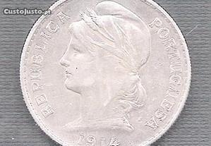 Moeda 50 Centavos 1914 Soberba