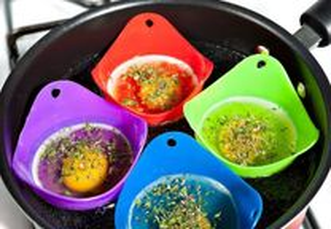 4 pcs Silicone para ovos escalfados