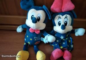 Peluches mickey e Minnie novos 40 cm 30cm 20cm