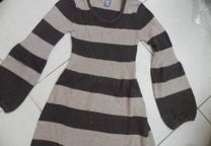 vestido em malha da Zara