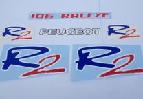 Peugeot 106 Rallye R2 Stickers decal