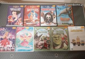 Filmes Dvd Animação Disney / Universal / DreamWorks.