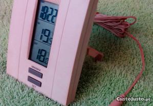 Termómetro digital - min e max - interior e exter
