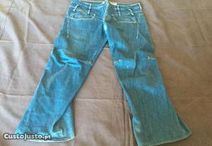 calças ganga tamanho 50