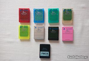 Cartões de memória RAROS para colecionador PS2