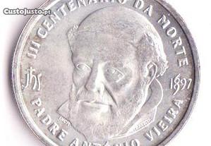 Moeda 3º Centenário da Morte do P. António Vieira.