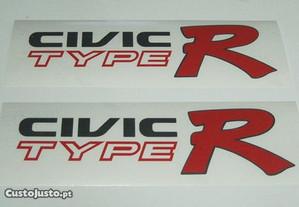 Autocolantes Civic Type R/Vtec Type R/Civic Sport